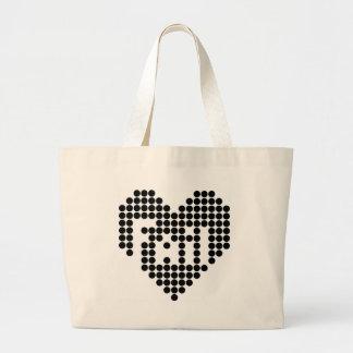 Fail Heart Large Tote Bag