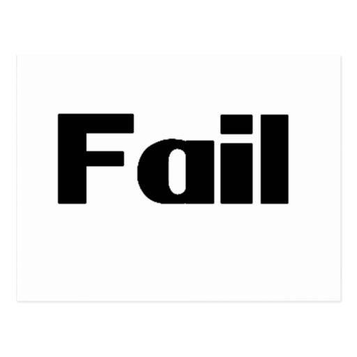 Fail Postcard