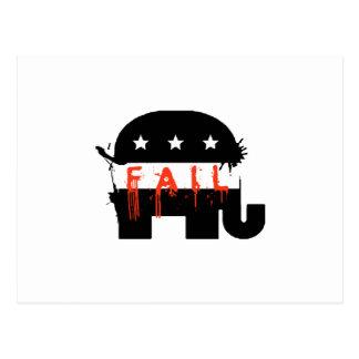 Fail Republican Fail Postcard