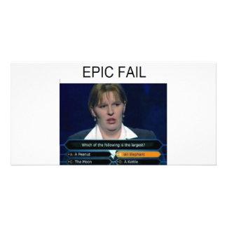 Fail Shirt Photo Greeting Card
