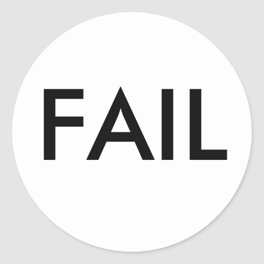 FAIL Stickers - Large