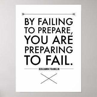 Fail to Prepare, Prepare to Fail Poster