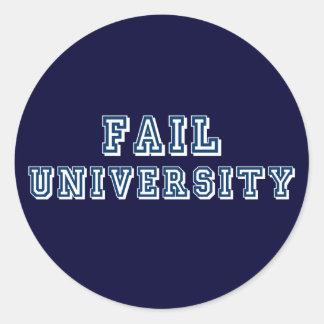 Fail University Classic Round Sticker