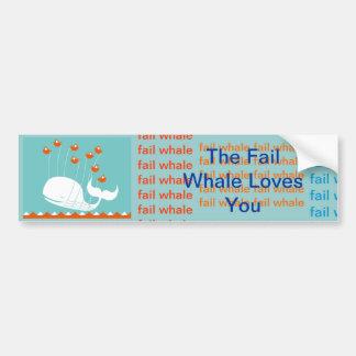 fail whale loves you bumper sticker