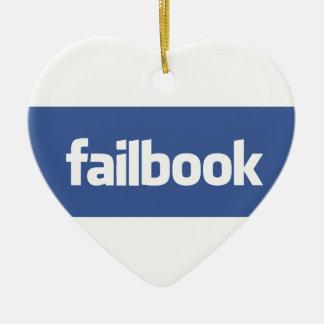 failbook adorno navideño de cerámica en forma de corazón
