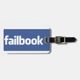 failbook etiqueta de equipaje