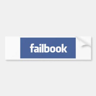 failbook pegatina para auto