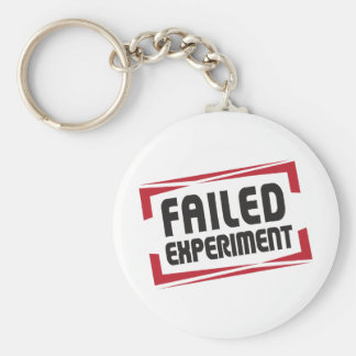 FAILED EXPERIMENT Apparel and Merchandise Keychain