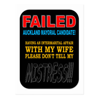 FAILED MAYORAL CANDIDATE POSTCARD