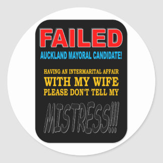 FAILED MAYORAL CANDIDATE STICKERS