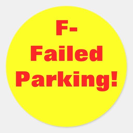 Failed Parking! Sticker