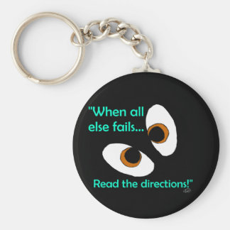 Fails read directions basic round button keychain
