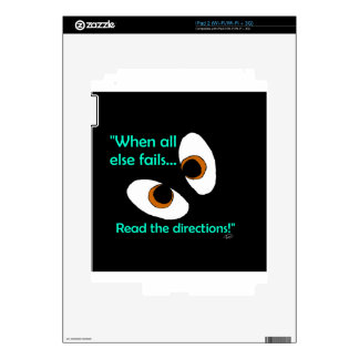 Fails read directions skin for the iPad 2