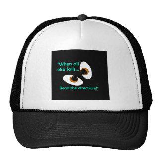 Fails read directions trucker hat