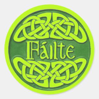 Failte Classic Round Sticker