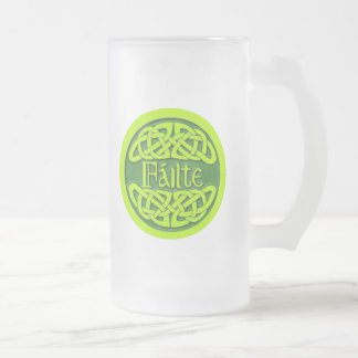 Failte Frosted Glass Beer Mug
