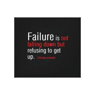 Failure (Chinese Proverb) Canvas Print