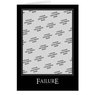 Failure DeMotivational Template Greeting Cards