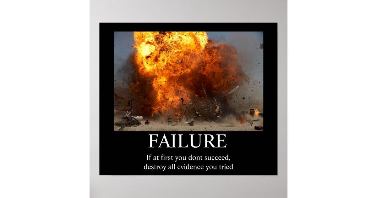 Failure Funny Motivational Poster Zazzle Com