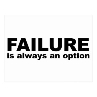 failure is always an option postcards
