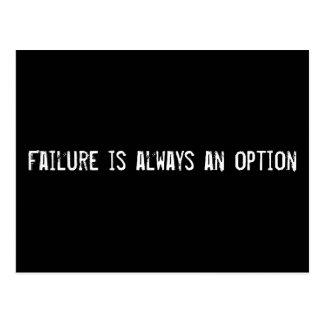 Failure is always an option post card
