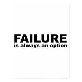 failure is always an option postcard