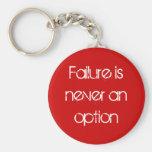 Failure is never an option basic round button keychain