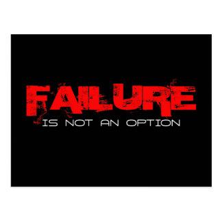 FAILURE Is not an Option Postcard