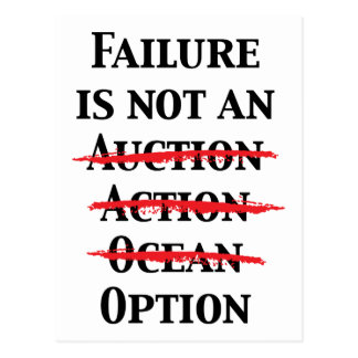 Failure is not an Option Post Cards