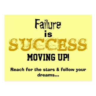 Failure is Success Moving Up Motivational Card