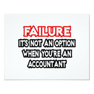Failure...Not an Option...Accountant Card