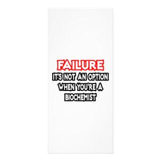 Failure...Not an Option...Biochemist Rack Card Design