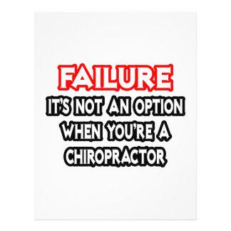 Failure...Not an Option...Chiropractor Flyers