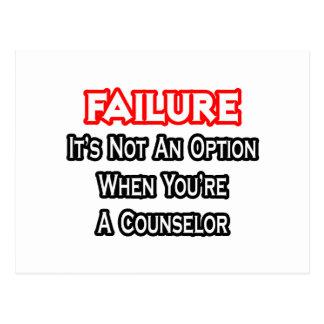 Failure...Not an Option...Counselor Postcard