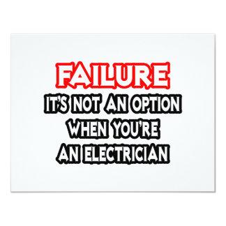Failure...Not an Option...Electrician Custom Announcements
