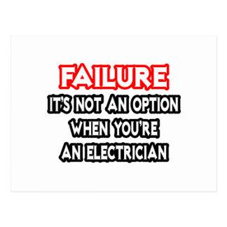 Failure...Not an Option...Electrician Post Card