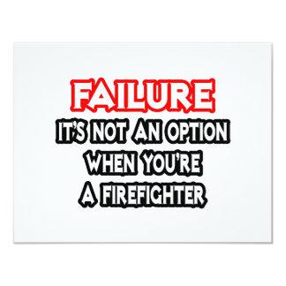 Failure...Not an Option...Firefighter Card