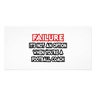 Failure Not an Option Football Coach Photo Cards