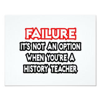 Failure...Not an Option...History Teacher Card