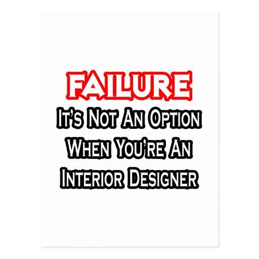 Failure...Not an Option...Interior Designer Postcard