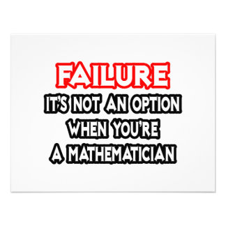 Failure...Not an Option...Mathematician Personalized Invite