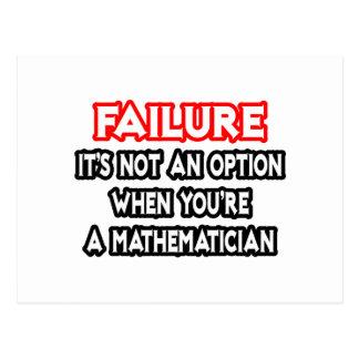 Failure...Not an Option...Mathematician Postcards