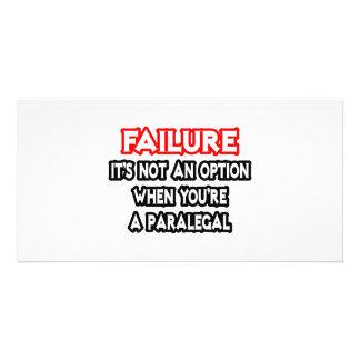 Failure...Not an Option...Paralegal Photo Card