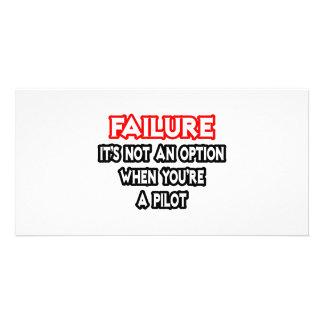 Failure...Not an Option...Pilot Customized Photo Card