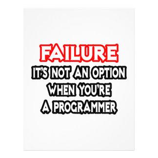 Failure...Not an Option...Programmer Flyer