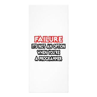 Failure...Not an Option...Programmer Rack Card