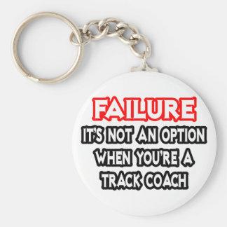 Failure...Not an Option...Track Coach Keychain