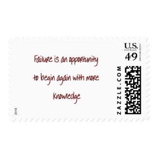 failure postage