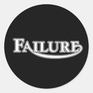 Failure Classic Round Sticker