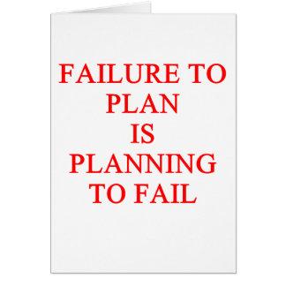 FAILure to pln Card